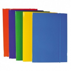 Carpetta con elastico A4 blu