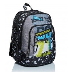 Zaino Scuola Seven Advanced - Street Player Nero con Usb integrato Rif 241