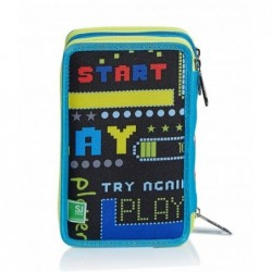SchoolPack Seven Play Again  Zaino + Astuccio Attr. 3Zip  Rif 344