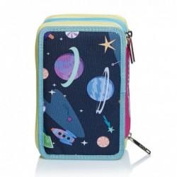 Schoolpack Seven Facce da SJ Girl Zaino Sdoppiabile + Astuccio 3zip Rif 435
