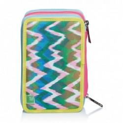 Schoolpack Seven Facce da SJ Girl Zaino Sdoppiabile + Astuccio 3zip Rif 436