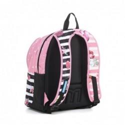 Zaino Scuola Mitama Plus Pink Flowers Girl Rif 565